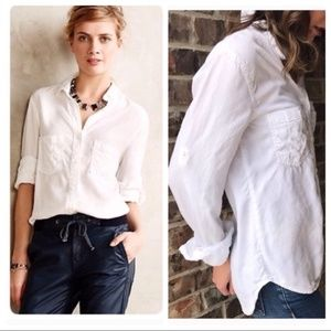 Anthropologie Cloth & Stone White Button Up